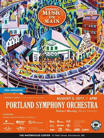 Music on Main presents the Portland Symphony Orchestra 8/3/17 at 6:00 p.m.