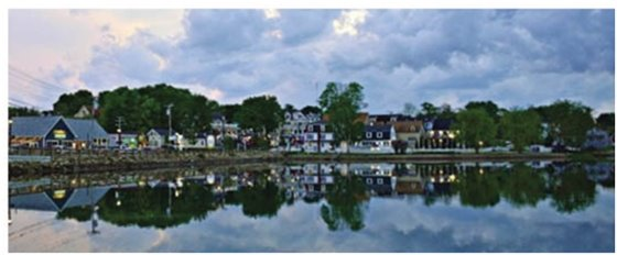 Kennebunk Lower Village as seen from the Kennebunk River Basin