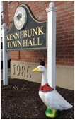 The Goose greets all who enter Town Hall