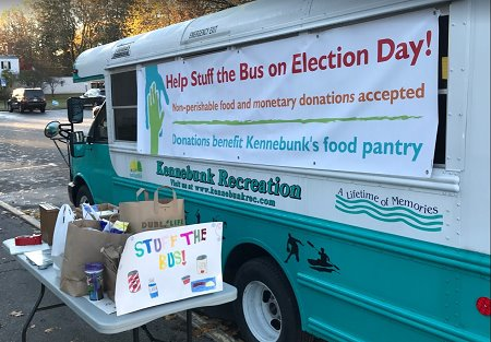Help Stuff the Bus on Election Day for our local food pantry!