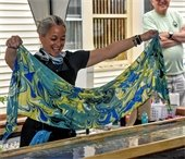 Sumi Scarves: Scarf making