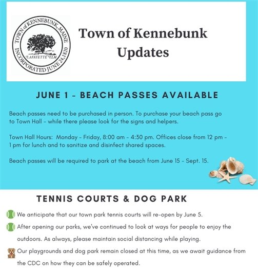 Town updates, week of June 1