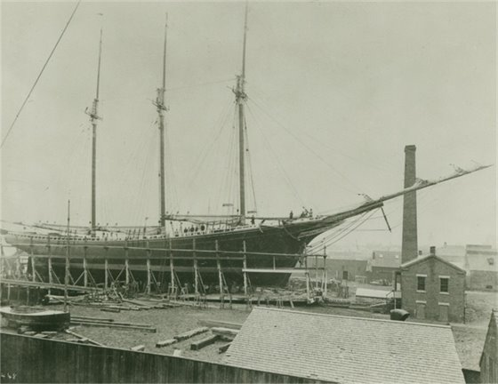 Ship construction on the Kennebunk River