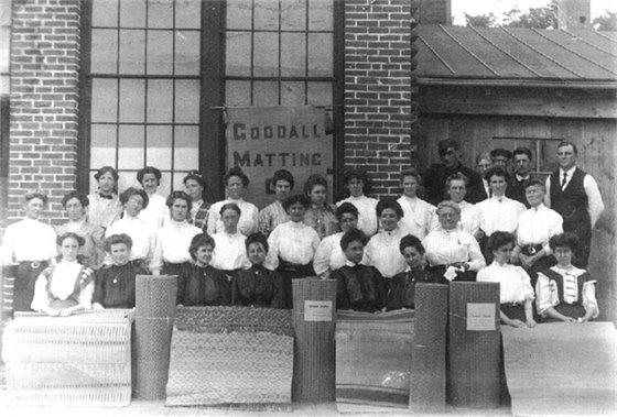 Women working at Goodall Matting Company