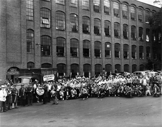 Workers at Kesslen Shoe Company