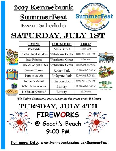 SummerFest 2017 Schedule of Events