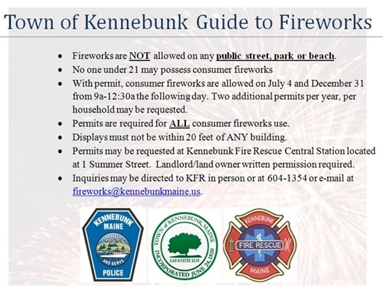 Guide to Fireworks in Kennebunk