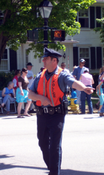 Traffic Control Officer directing traffic
