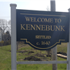 Welcome to Kennebunk  sign