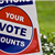 You&#39re vote counts lawn sign