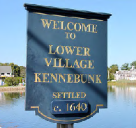 Welcome to Lower Village sign