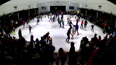 Ice skataing at the Waterhouse Center