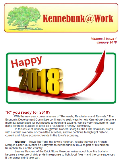 Volume 2, Issue 1, Kennebunk At Work Newsletter (PDF)