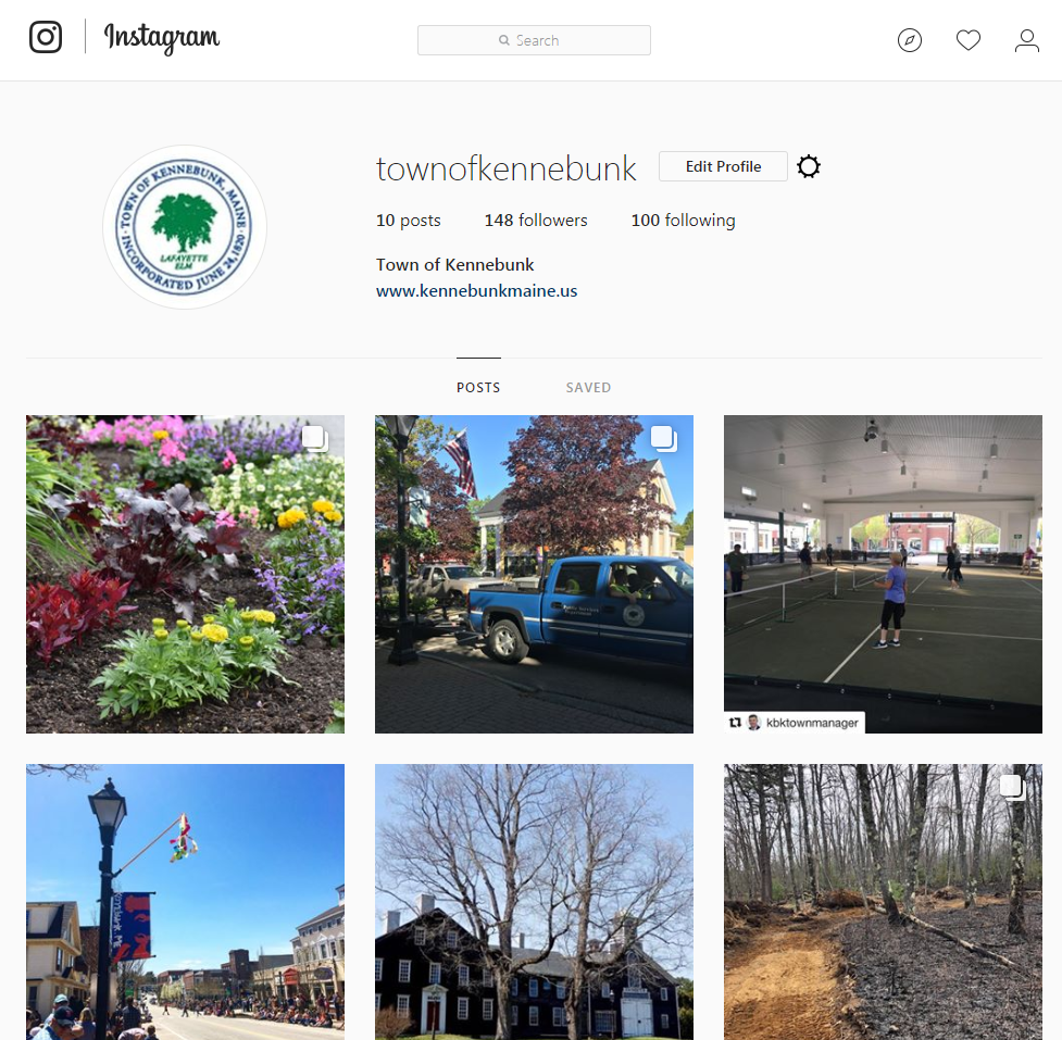 Town of Kennebunk Instagram account