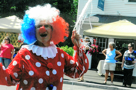 Family Fun Day clown in parade
