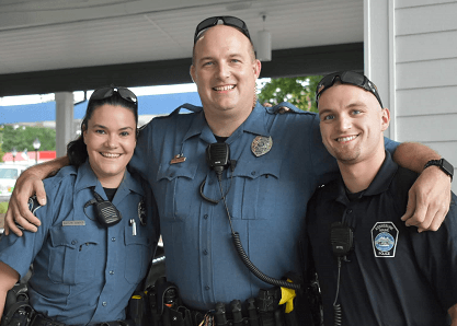 Kennebunk Police officers