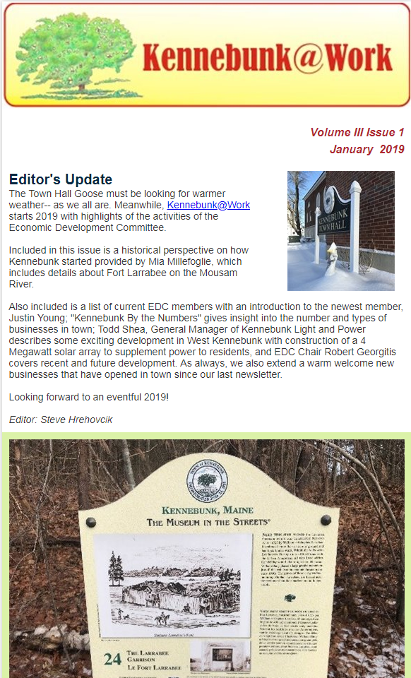 January 2019 issue of Kennebunk @ Work