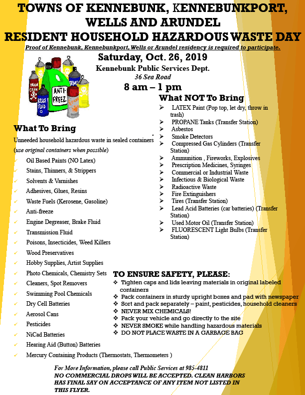 Household Hazardous Waste Day flyer